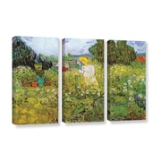 Marguerite Gachet in the Garden by Vincent Van Gogh 3 Piece Painting Print on Wrapped Canvas Set