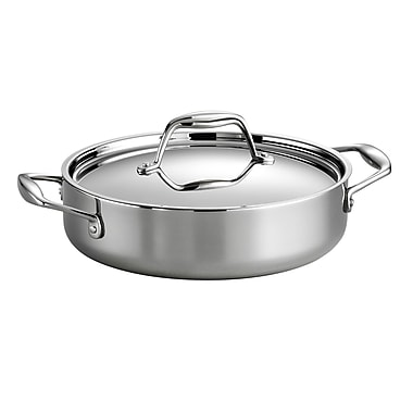 Tramontina Gourmet Stainless Steel Round Braiser w/ Lid; 3 Quarts