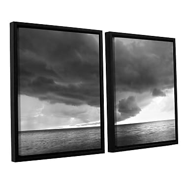 ArtWall Lake Erie Storm by Dan Wilson 2 Piece Framed Photographic Print on Canvas Set