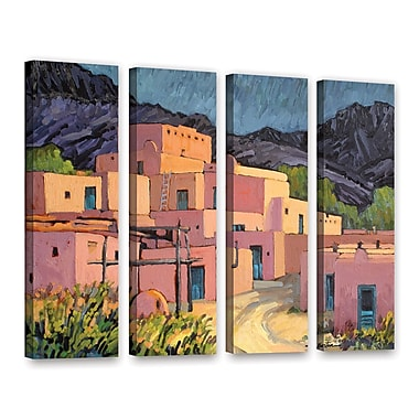 ArtWall Taos Pueblo by Rick Kersten 4 Piece Painting Print on Wrapped Canvas Set