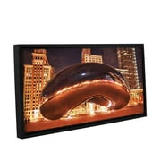 ArtWall The Bean Ii by Dan Wilson Framed Photographic Print on Wrapped Canvas; 24'' H x 48'' W