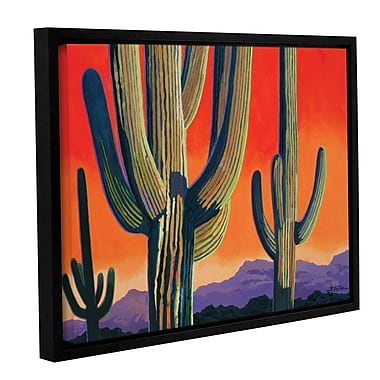 ArtWall Saguaro Dawn by Rick Kersten Framed Graphic Art on Wrapped Canvas; 36'' H x 48'' W