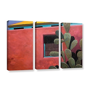 ArtWall Adobe Color by Rick Kersten 3 Piece Painting Print on Wrapped Canvas Set