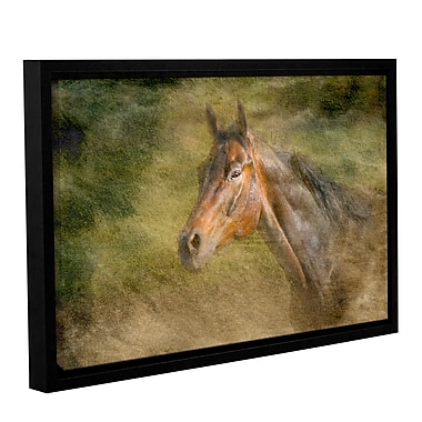 ArtWall Majestic Horse by Antonio Raggio Framed Graphic Art on Wrapped Canvas; 32'' H x 48'' W