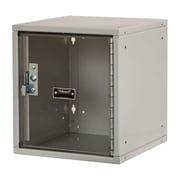 Hallowell Cubix 1 Tier 1 Wide Safety Locker; Platinum