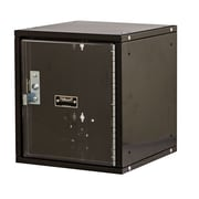 Hallowell Cubix 1 Tier 1 Wide Safety Locker; Midnight Ebony