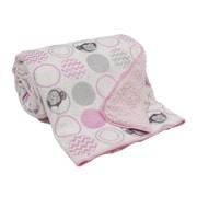 Bedtime Originals Pinkie Velour/Sherpa Blanket
