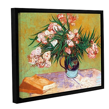 ArtWall Oleander by Vincent Van Gogh Framed Painting Print on Wrapped Canvas; 24'' H x 32'' W