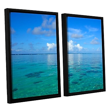 ArtWall Lagoon & Reef by George Zucconi 2 Piece Framed Photographic Print on Canvas Set