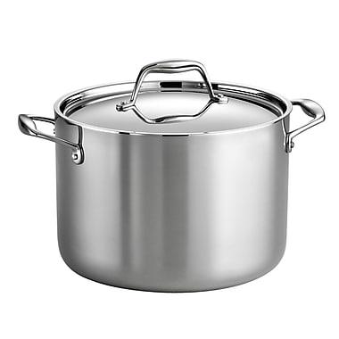 Tramontina Gourmet Tri-Ply Clad 8 Qt. Stock Pot w/ Lid