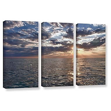 ArtWall Lake Erie Sunset I by Dan Wilson 3 Piece Photographic Print on Wrapped Canvas Set