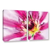 ArtWall Pink Petals by Antonio Raggio 2 Piece Graphic Art on Wrapped Canvas Set
