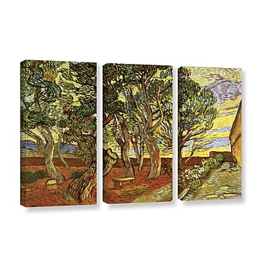 A Corner of Saint-Paul Hospital by Vincent Van Gogh 3 Piece Painting Print on Wrapped Canvas Set