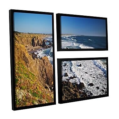 ArtWall Sonoma Coast by Dan Wilson 3 Piece Framed Photographic Print on Canvas Set