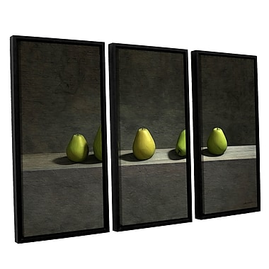 ArtWall Five Pears by Cynthia Decker 3 Piece Framed Photographic Print on Canvas Set