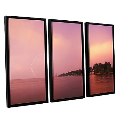 ArtWall Rainbows And Lightning by Dan Wilson 3 Piece Framed Photographic Print on Canvas Set