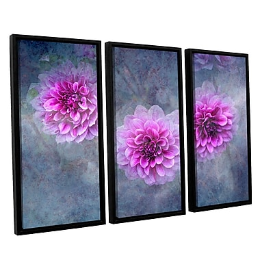 ArtWall Beauty In Purple by Antonio Raggio 3 Piece Framed Graphic Art on Canvas Set