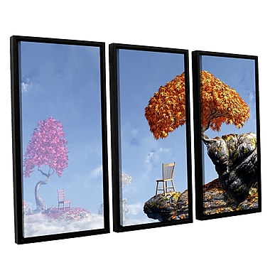 ArtWall Leaf Peepers by Cynthia Decker 3 Piece Framed Photographic Print on Canvas Set