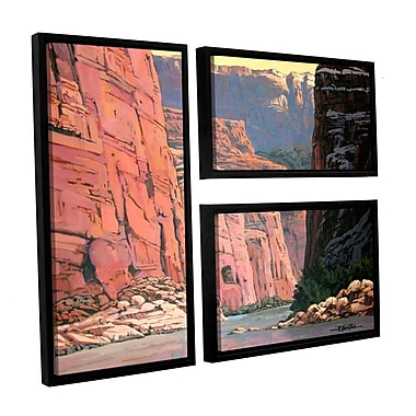 ArtWall Colorado River Walls by Rick Kersten 3 Piece Framed Graphic Art on Canvas Set