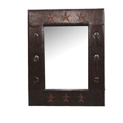 HiEnd Accents Star Faux Leather Mirror
