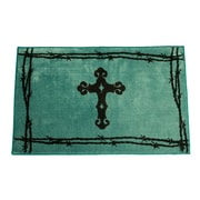 HiEnd Accents Cross Turquoise Area Rug