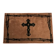 HiEnd Accents Cross Chocolate Area Rug