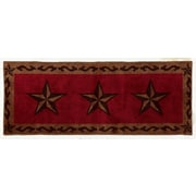 HiEnd Accents Star Red Area Rug