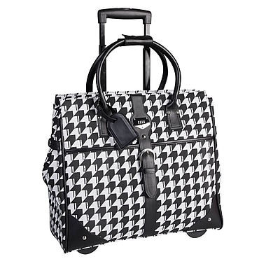 ELLE Rolling Carry-On Satchel with Computer Padded Sleeve