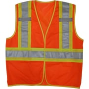 Open Road – Veste de sécurité en filet Hi-Viz, orange fluorescent, 3/paquet