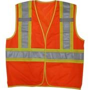 Open Road Hi-Viz Mesh Safety Vest, Fluorescent Orange, 3 Pack