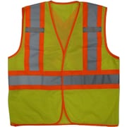 Open Road – Veste de sécurité en filet Hi-Viz, vert fluorescent, 3/paquet