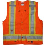 Open Road Surveyor Safety Vest, Fluorescent Orange