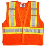 Viking – Veste de sécurité en filet à haute visibilité 5 points détachables, orange fluorescent, 3/paquet