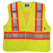 Viking – Veste de sécurité en filet à haute visibilité 5 points détachables, vert fluorescent, 3/paquet