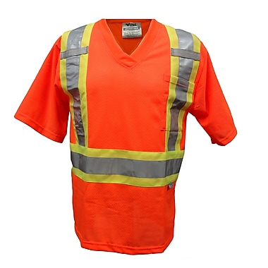 Viking – T-shirt de sécurité en filet, 4x grand, orange fluorescent