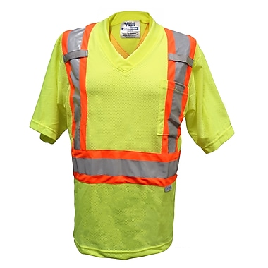 Viking Mesh Safety T-Shirt, 4X-Large, Fluorescent Green