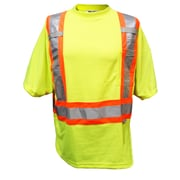 Viking Double Layered Mesh Safety T-Shirt, Fluorescent Green