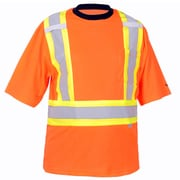 Viking Cotton Lined Safety T-Shirt with UPF50+ Rating, Fluorescent Orange