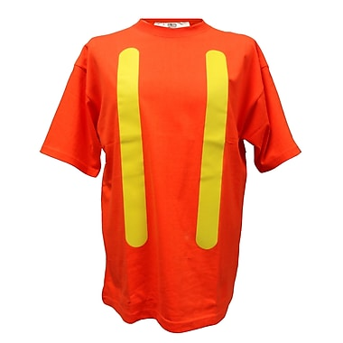 Viking 100% Cotton Safety T-shirt with UPF50+ Rating, Medium, Orange