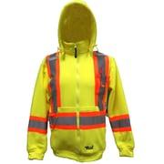 Viking Safety Fleece Hoodie, Fluorescent Green