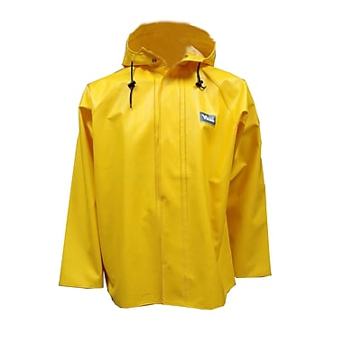 Viking Journeyman PVC Hooded Rain Jacket, Large, Yellow