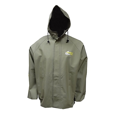 Viking Norseman PVC Hooded Rain Jacket, 2X-Large, Green