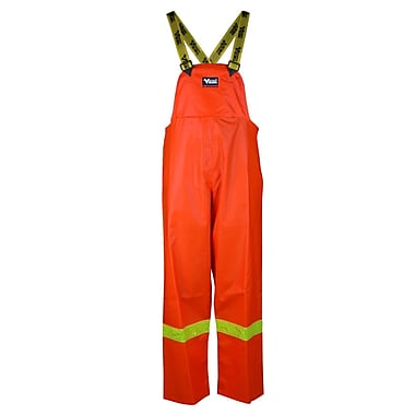 Viking Journeyman PVC Bib Pant with Safety Striping, Large, Orange