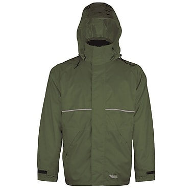 Viking Journeyman 420D Nylon Rain Jacket, Medium, Green