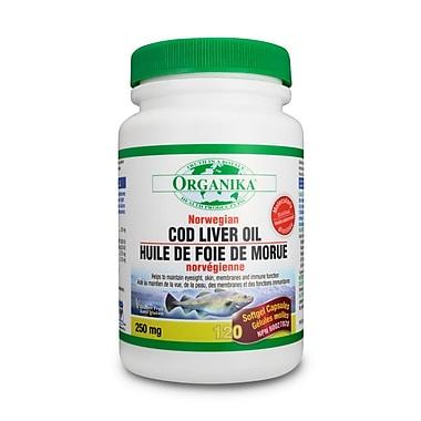 Organika® Cod Liver Oil Norwegian Softgels, 4 x 120/Pack
