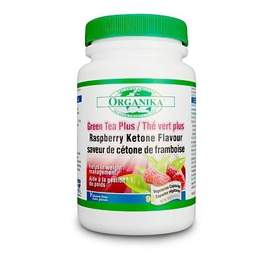 Organika® Green Tea With Raspeberry Ketone Vegetarian Capsules, 2 x 90/Pack