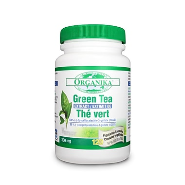 Organika® Green Tea Extract Vegetarian Capsules, 2 x 120/Pack