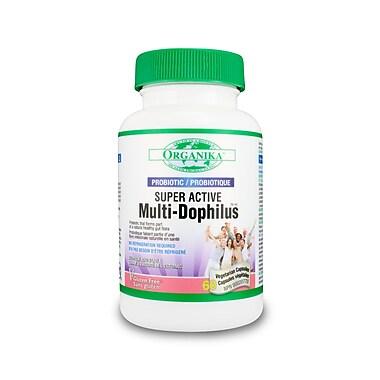 Organika® Super Active Multi-Dophilus Vegetarian Capsules, 2 x 60/Pack