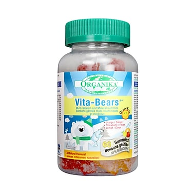 Organika® Vita Bears Gummies, 3 x 60/Pack