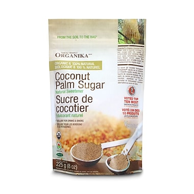 Organika® Coconut Palm Sugar Certified Organic+, 4 x 225g/Pack